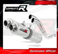 Laděný výfuk DOMINATOR Honda NX 650 DOMINATOR RD02 88-94 KULATÉ KONCOVKY STANDART
