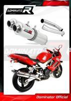 Laděný výfuk DOMINATOR Honda VTR1000F Firestorm 02-06 KULATÉ KONCOVKY STANDART