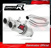 Laděný výfuk DOMINATOR Honda CBR1000F 88-00 KULATÉ KONCOVKY KRÁTKÉ GP1
