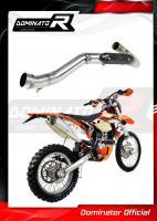 Laděný výfuk DOMINATOR KTM EXC 450 12-16 koleno výfuku